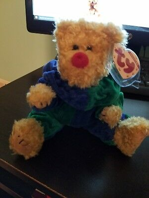 Ty Attic Treasures Small Bear 1993 With Original Tags Green And Blue Outfit 2c234c473a77
