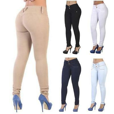 Skinny Womens High Waisted Denim Jeans Stretchy Jeggings Ladies Pants Trousers