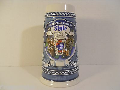 "1982 OLD STYLE ""Chicagoland, You've Got Style"" Advertising Ceramarte Beer Stein"