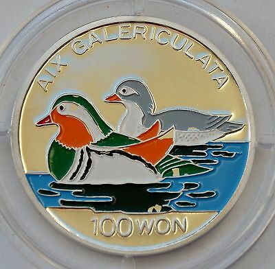 Korea 100 WON 1995, Ducks, Color silver, World Wide Fund for Nature