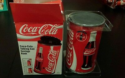 Coca Cola Collectible Can Musical Bank Mint  NIB  Batteries Included