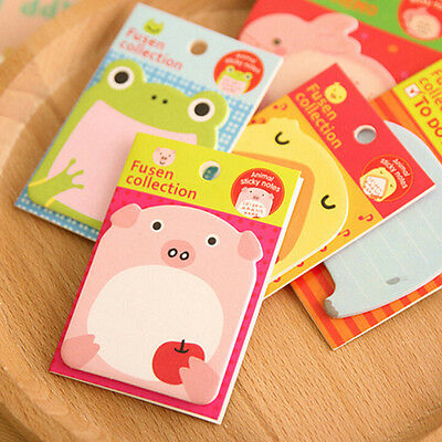 New Cute 10pcs Cartoon Sticky Notes Memo Pad School Office Home Stationery Paper