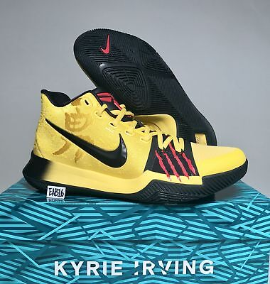 differently 8062e ff9dd NIKE KYRIE IRVING 3 III Bruce Lee Mamba Mentality MM AJ1672 700 Yellow  Black Red