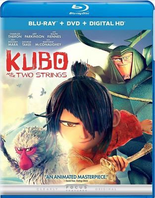 Kubo and the Two Strings (Blu-ray/DVD, 2016, 2-Disc Set) LIKE NEW - NO DIGITAL