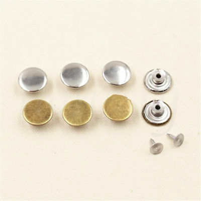 10 Sets Blank NO SEW Replacement Metal Button 17mm For Jeans Denim-shirts Pants