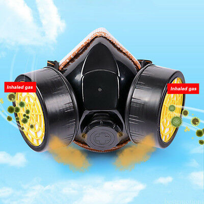 1xAnti-Dust Respirator Mouth Nose Dual Protection Mask for Emergency Survival WY