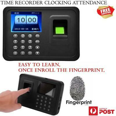 New Attendance Fingerprint Password Time Recorder Clocking In Clock USB Machine