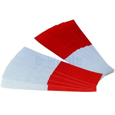 10PCS Total 3m=10' DOT - C2 Truck Reflective Conspicuity Tape Wihte / Red GW