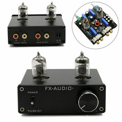 New FX-AUDIO TUBE-01 HIFI Vacuum Tube Pre-Amplifier Preamp Bile Buffer 6J1 Valve