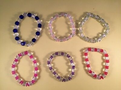 Variety Of Colours  & Glass Bead Stretch  Bracelet Project/Kit - Easy To Make