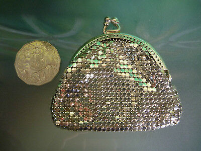 Tiny Vintage Silver GLOMESH Mini COIN PURSE METAL MESH many more listed