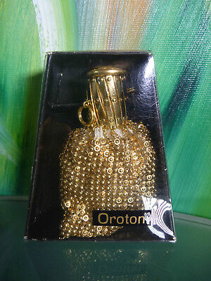 RARE Vintage GOLD OROTON Mini Beggars COIN Purse in BOX Metal Mesh XLNT Cond