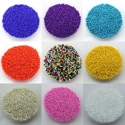 Wholesale 1000Pcs Opaque Glass Seed Bead For Jewelry Making DIY 2MM U Pick Color