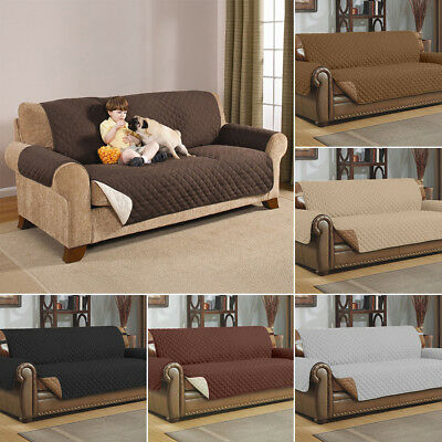 Quilted Microfiber Pet Dog Chair Couch Sofa Furniture Protector Cover Slipcover