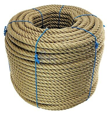 36 mm Thick Heavy Duty Jute Rope Twisted Braided Garden Decking Cord 12345678910