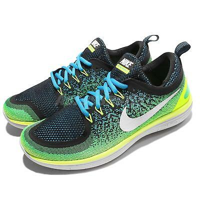 Nike Free RN Distance 2 II Blue Green Men Running Shoes Sneakers 863775-402