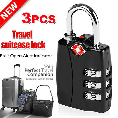 Smart 3 Digit Mini code Metal Combination Travel Luggage Lock Padlock Password