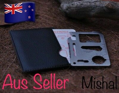 Credit Card Multi Tool Emergency Camping Pocket Knife bottle opener *Aus Seller*