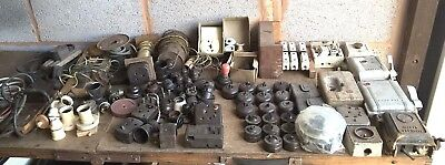 bakelite electrical switches / porcelain fuse boxes