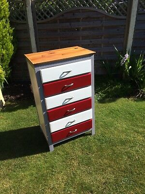 Six Drawer Painted Cabinet