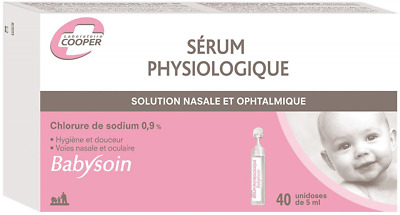 Babysoin Physiological Serum Box of 40ml Single Dose Nasal Passages & Eye