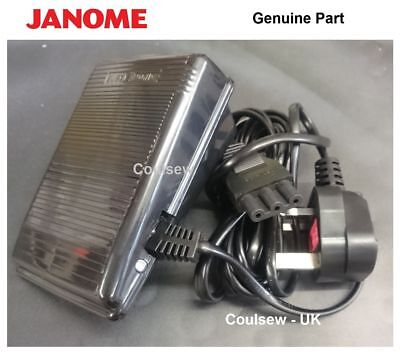 New To Fit Janome & Elna Sewing Machine Foot Control Pedal + Lead Sc E Type