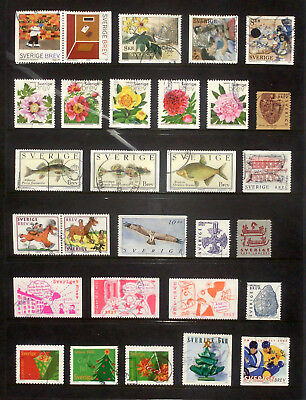 2001-2002, good lot of used stamps from Sweden