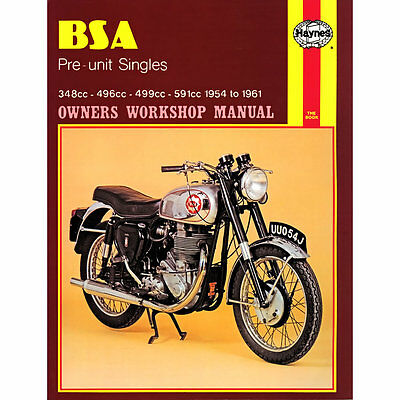 BSA Pre-Unit Singles B31 B32 B33 B34 CB DB 1954-1961 Haynes Workshop Manual