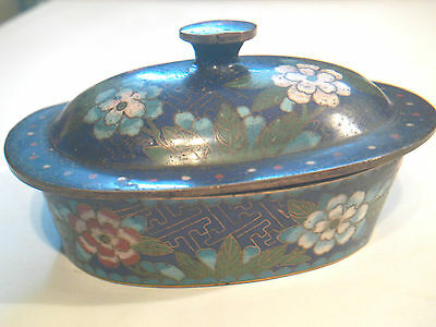 Antique Chinese Japanese Cloisonne Dish