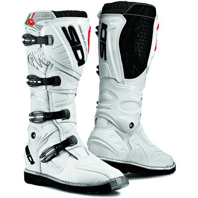 Sidi Charger Mx Motorcross Off Road Motorcycle Boots Size 43 White Rare To Uk