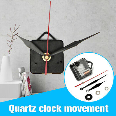 DIY Wall Quartz Clock Movement Mechanism Black & Red Hand Repair Tools Kit Gift