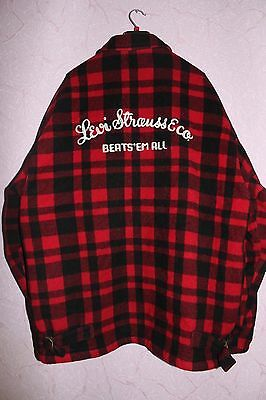 Levis Vintage LVC Beats'em All Jacket Wool Size L Made In Italy