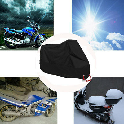 Waterproof Motorbike Dustproof Rain Cover Protection Storage Shelter L NEW