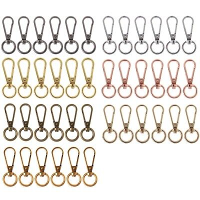 6pcs Swivel Chain Bag Clasp Spring Snap Hook Key Ring Hardware Accessories Craft