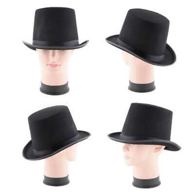 Black Magician Tall Steampunk Black Hat Top Fedora Adult Formal Harry Magic UK