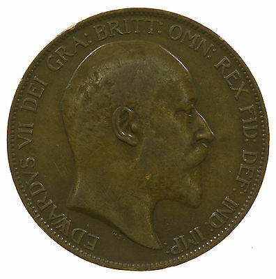 Great Britain, Edward Vii Penny, 1907