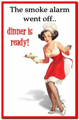 Funny Cute Decor Collectible Kitchen Fridge Magnet - Pinup Housewife Jokes #3