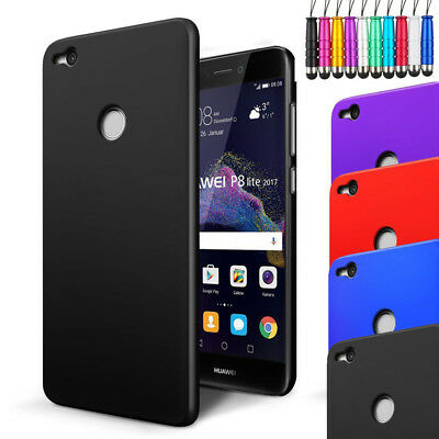 For Huawei P8 Lite 2017 - Armour Hard Shell Case Back Cover + Screen + Stylus
