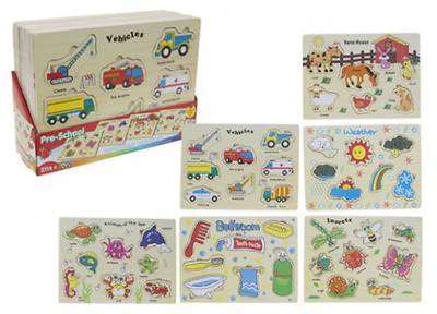 Wooden Jigsaw Puzzle Kids Child Learning Educational Toy Birthday Christmas Gift