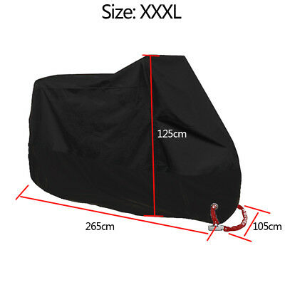 Motorcycle Cover Waterproof Outdoor Rain Dust UV Scooter Motorbike Protector 3XL