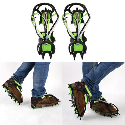 1Pair 14 Teeth Crampon Ice Gripper Hiking Climbing Anti-Crystallization