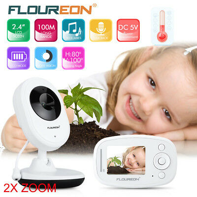 Baby Camera Monitor Wireless LCD Digital with battery Night Vision Temperature