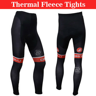 Mens Bike Team Cycling Race Thermal Pants Winter Fleece Tights Trousers Padded