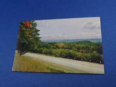 Postcard Morlach Saskatchewan Canada Nature Scene Country Road Trees Mountains