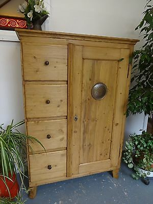 Lovely Wood Wooden Food Cupboard Drawers Cabinet