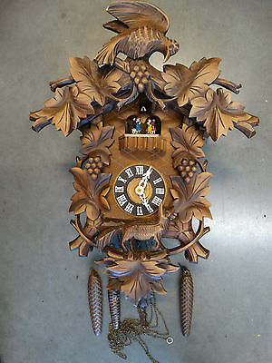 Large Antique German Black Forest Cuckoo Clock  needs Service  LOOK!