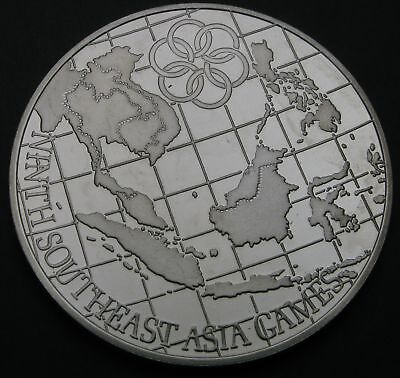 MALAYSIA 25 Ringgit 1980 FM Proof - Silver - Asian Games - 1535