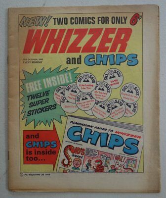 Whizzer and Chips comic #1 - 18 Oct 1969 VG (phil-comics)