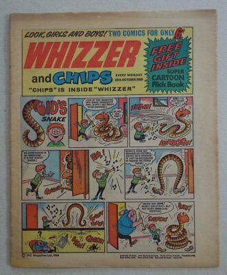 Whizzer and Chips comic #2 - 25 Oct 1969 VG- (phil-comics)