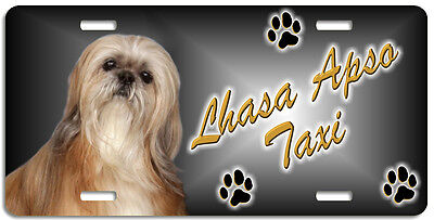 Lhasa Apso 1 Taxi Line License Plate (( LOW CLEARANCE PRICE ))